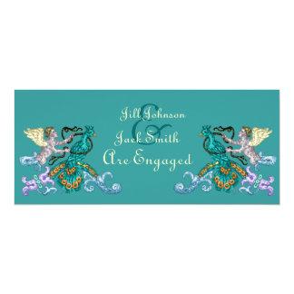 Angel & Peacock Vintage Illustration Card