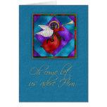 Ángel pelado oscuridad, navidad religioso tarjeta de felicitación