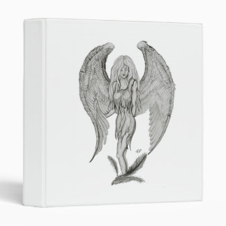 Angel pencil drawing Black and white Design Binder