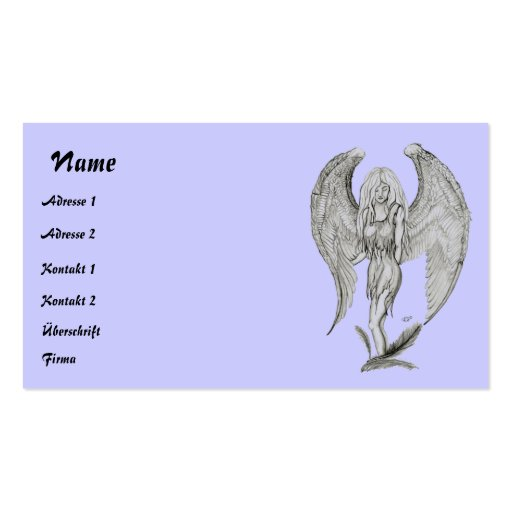 Angel pencil drawing Double-Sided standard business cards (Pack of 100)