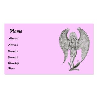 Angel pencil drawing business card