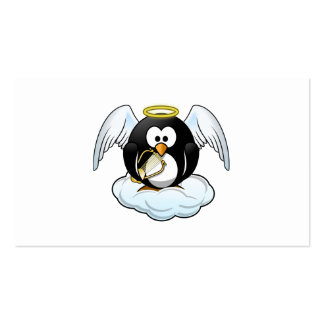 Angel Penguin on A Cloud Business Card Templates