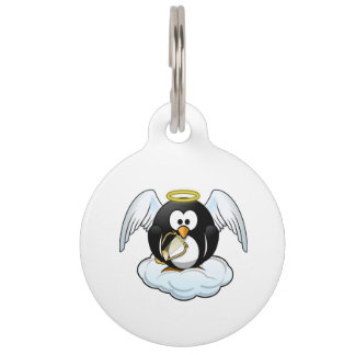 Angel Penguin on A Cloud Pet Tag