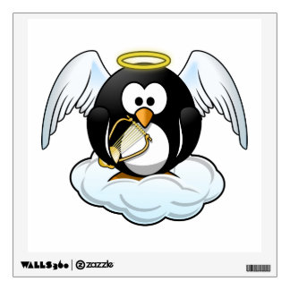 Angel Penguin on A Cloud Wall Decal