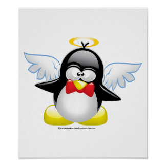 Angel Penguin Poster