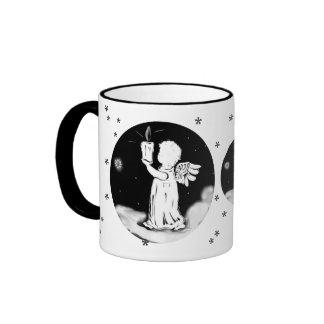 ángel pequeño con candela - Weihnachtstasse Taza De Dos Colores