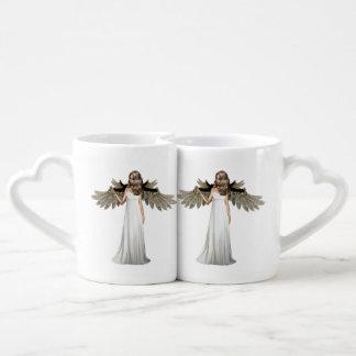 Ángel perfecto taza para enamorados