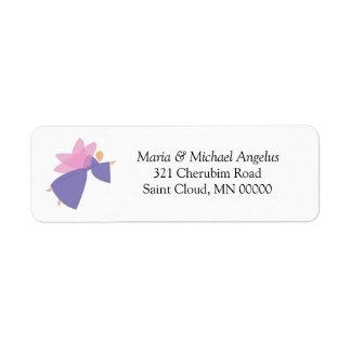 Angel Personalised Weddings Invitations Stickers Label