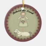 Ángel personalizado del navidad y ornamento del ornamento para arbol de navidad