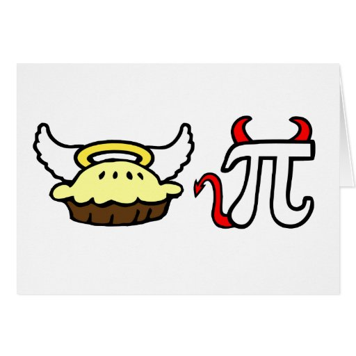 Angel Pie and Devil Pi Greeting Card