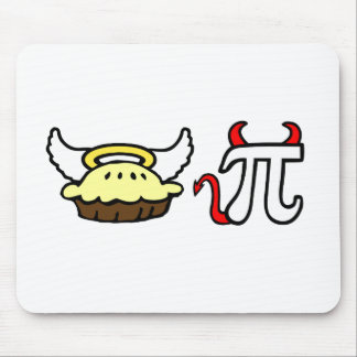 Angel Pie and Devil Pi Mouse Mat