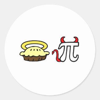 Angel Pie & Devil Pi Classic Round Sticker