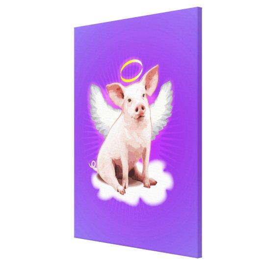 Angel Pig Canvas Print