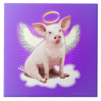 Angel Pig Ceramic Tile