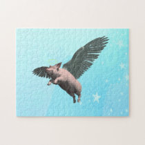 Angel Pig Jigsaw Puzzle