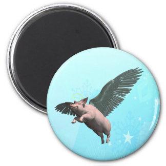 Angel Pig Fridge Magnets