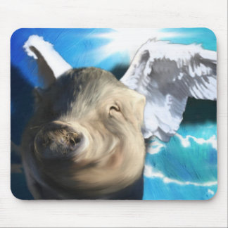 Angel Pig Mouse Pad