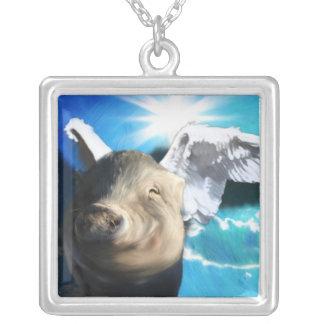 Angel Pig Necklace