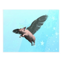 Angel Pig Postcard