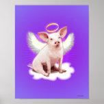 Angel Pig Posters