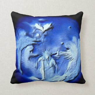 Angel Pillow with God Sitting with his angels