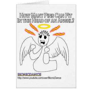 Angel Pinhead Greeting Card
