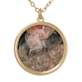 Angel Piping to Souls in Hell by Evelyn De Morgan Gold Plated Necklace