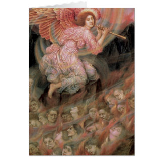 Angel Piping to Souls in Hell by Evelyn De Morgan Greeting Card