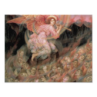 Angel Piping to Souls in Hell by Evelyn De Morgan 4.25x5.5 Paper Invitation Card