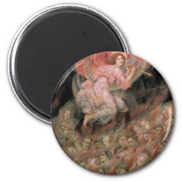 Angel Piping to Souls in Hell by Evelyn De Morgan Magnet