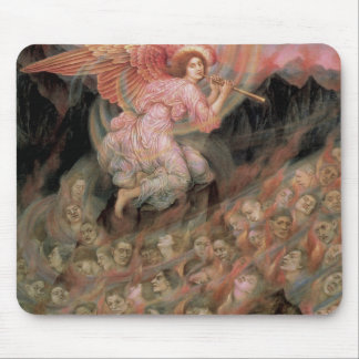 Angel Piping to Souls in Hell by Evelyn De Morgan Mouse Pad
