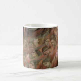 Angel Piping to Souls in Hell by Evelyn De Morgan Classic White Coffee Mug