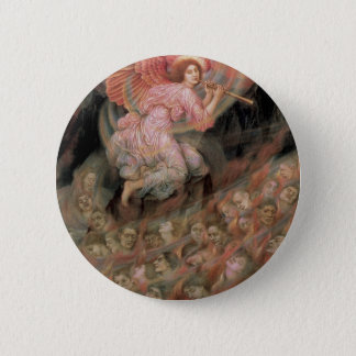 Angel Piping to Souls in Hell by Evelyn De Morgan Pinback Button