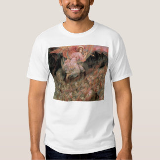 Angel Piping to Souls in Hell by Evelyn De Morgan Tee Shirt