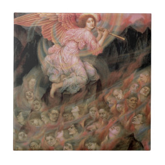 Angel Piping to Souls in Hell by Evelyn De Morgan Tile