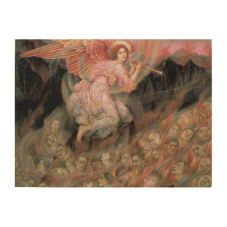 Angel Piping to Souls in Hell by Evelyn De Morgan Wood Print