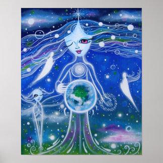 Ángel planetario poster