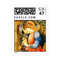 Angel Playing a Flageolet Fine Art Postage