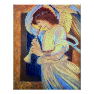 Angel Playing a Flageolet Poster