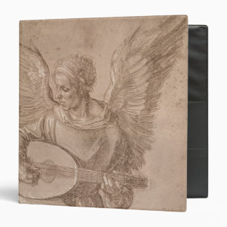 Angel playing a lute 1491 3 ring binder