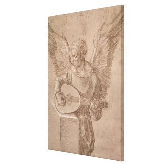 Angel playing a lute, 1491 canvas print