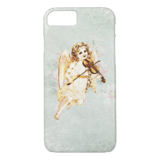 Angel Playing a Violin on Vintage Paper Background iPhone 7 Case