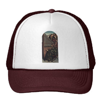 Angel Playing By Hubert Van Eyck (Best Quality) Trucker Hat