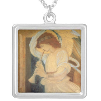 Angel Playing Flageolet Burne Jones, Vintage Music Pendant