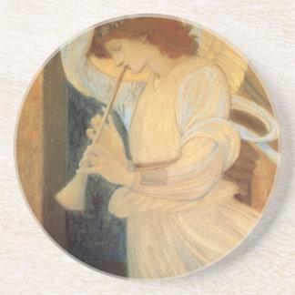 Angel Playing Flageolet By Burne Jones Sandstone Coaster