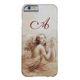 ANGEL PLAYING LYRA OVER THE CLOUDS brown monogram Barely There iPhone 6 Case