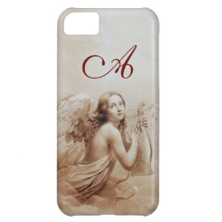 ANGEL PLAYING LYRA OVER THE CLOUDS brown monogram iPhone 5C Cover