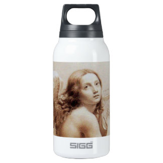ANGEL PLAYING LYRA OVER THE CLOUDS brown 10 Oz Insulated SIGG Thermos Water Bottle