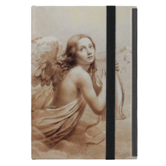 ANGEL PLAYING LYRA OVER THE CLOUDS ,GEM MONOGRAM COVERS FOR iPad MINI