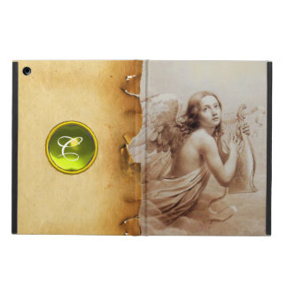 ANGEL PLAYING LYRA OVER THE CLOUDS ,GEM MONOGRAM iPad AIR CASES